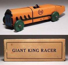 tin toys marx toy us made giant king racer