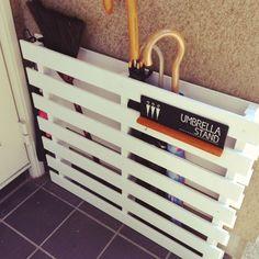 DIY Umbrella Stand with pallets Ideas Hogar, Diy Interior, Home Organization, Organizing, Getting Organized, Wood Projects, Diy Furniture, Diy Home Decor, Diy And Crafts