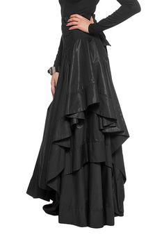 L2007A Luxe cotton-blend skirt/ Elegant maxi skirt/ by Jiors