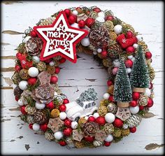 Christmas Advent Wreath, Nordic Christmas, Christmas And New Year, Winter Christmas, Christmas Home, Merry Christmas, Christmas Decorations, Winter Fun, Winter Time