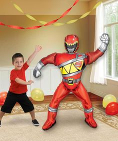 The Red Power Ranger will come to the party when you use this Power Rangers Dino Charge AirWalker Foil Balloon! Helium will make the balloon appear to walk. Includes 1 foil balloon that measures appro