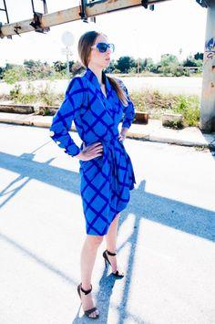 MuseRebelle | Blue Impression editoria: Vintage YSL dress & Prada heels