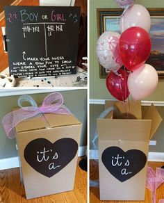 Pretty Neat Living gender reveal party box #babyshower #DIY
