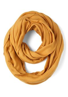Start with the Basics Scarf in Mustard, #ModCloth. My fav fall color right now!