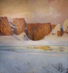 "Gustav Fjaestad  ""Stjärnklar Vinternatt""  (Nuit d'Hiver Etoilée)         Gustav Fjaestad est le peintre des neiges scintillantes, du gel,..."