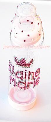 swarovski crystal baby bling baby bottles girl or boy