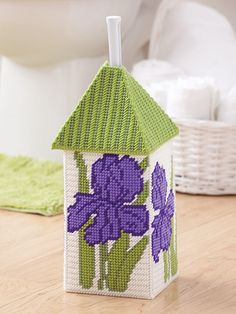 Bathroom Cover-Ups fun ways to hide a toilet brush plastic canvas patterns