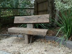 Anchored Solid Recycled Railway Sleeper Garden Seat in Melbourne, VIC | eBay