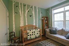 Ashbee Design- Grandchild's Birch Tree Nursery using wall decals