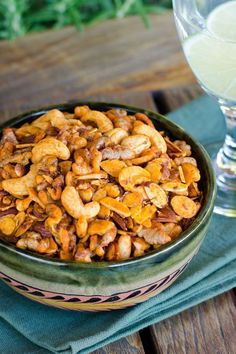 This paleo snack mix is addictive. Salty, smoky and garlicky, it reminds me of traditional bar snacks, but without the not-so-desirable ingredients.