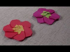 How to make a Cute Origami Plant: Plum blossom Cute Origami, Origami Star Box, Origami Envelope, Origami And Kirigami, Origami Ball, Paper Crafts Origami, Origami Ideas, Origami Stars, Origami Koi Fish