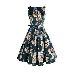 Vintage Style Swing 1950's 1960's Housewife Retro Pinup Rockabilly Evening Dress…