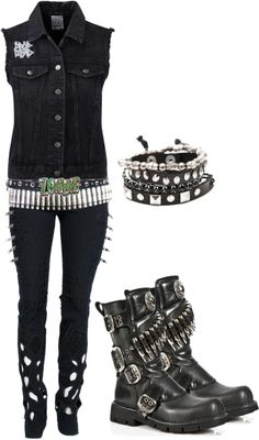 Super cute rockabilly outfit! If anyone knows where to get this outfit please let me know. <3