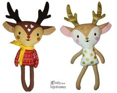Cute Caribou Reindeer Sewing Pattern - Dolls And Daydreams