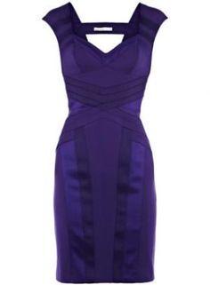 Purple Cocktail Dress - Bqueen Bodycon Panel Dress K306P | UsTrendy