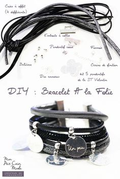DIY – Tutoriel bracelet multi lien avec messages d'amour We are want to say thanks if you like to share this post to another people via your facebook, pinterest, google plus or twitter account. Right Click to save picture or tap and hold for seven second if you are using iphone or... Fabric Bracelets, Jewelry Bracelets, Jewelery, Leather Jewelry, Beaded Jewelry, Handmade Jewelry, Wire Jewelry Patterns, Homemade Bracelets, Diy Collier