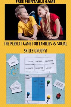 How Am I Feeling - a Super Silly Social Skills Game for Family and Therapy Groups #mosswoodconnections #autism #socialskills #feelings #printablegame Play Therapy Activities, Feelings Activities, How To Express Feelings, Feelings And Emotions, Parenting Articles, Good Parenting, Social Skills Games, Emotional Awareness, Special Needs Kids