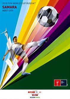 Samara. Póster Copa Mundial de Fútbol FIFA Rusia 2018. Diseño Carteles.