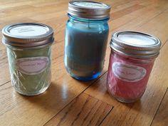 8oz and 16oz Mason Jar Scented Soy Wax by CandlesByAmanda228