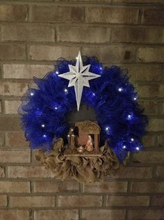 This item is unavailable Front Door Christmas Decorations, Christmas Wreaths With Lights, Holiday Wreaths, Holiday Decor, Winter Wreaths, Wreath Crafts, Christmas Crafts, Wreath Burlap, Wreath Ideas