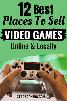 Want to sell video games online or locally? Yes? Here are some of the best places that'll allow you to sell video games online & locally, including vintage games. #sellvideogames #videogames #makemoneyonline #sellstuffonline #part-timejobs #sidehustles #extramoney Sell Used Stuff Online, Sell Stuff, Make Money Online, How To Make Money, Online Video Games, Vintage Games, Selling Online, Extra Money, Videogames
