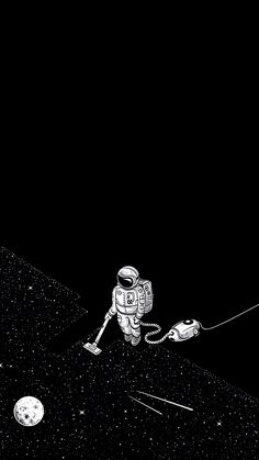 # - Space and Astronomy Black Wallpaper, Tumblr Wallpaper, Cool Wallpaper, Wallpaper Backgrounds, Iphone Wallpaper, Wallpaper Space, Mobile Wallpaper, Wallpapers Tumblr, Astronaut Wallpaper