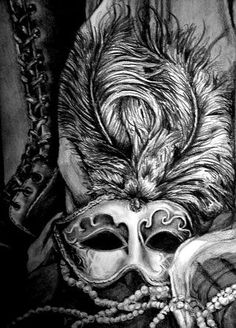 "Close up crop of ""Ghost Opera"" graphite drawing still life by: Lindsey Márton. https://www.facebook.com/LindseyMartonArt"