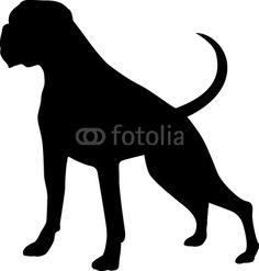 Afbeeldingsresultaat voor silhouette boxer dog