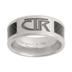 Titanium CTR Ring with Carbon Fiber Inlay $29.95