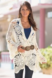 I love this crocheted jacket/sweater or whatever you would like to call it.