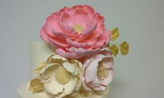 Clay Flowers.  Fantasy flower. Super light air dry clay. Fantasy peony.
