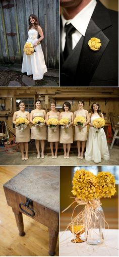 @Ashley This looks very fall...and it's yellow!! Very similar to your wedding style! Love it!