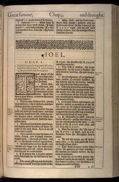 Joel Chapter 1 Original 1611 Bible Scan, courtesy of Rare Book and Manuscript Library, University of Pennsylvania