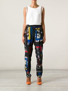 PAUL SMITH BLACK LABEL - printed trouser