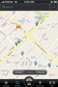 Screenshots of Parkit - an iPhone parking application by Fei Design , via Behance