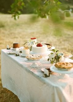 Desert Bar Inspiration: Real Wedding- Photo by Aaron Delesie on Snippet and Ink