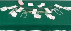 Blackjack Table Cover - FROM Party City (cheaper than renting equipment + space saver))