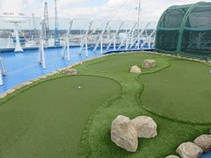 Regent Seven Seas Cruises - Seven Seas Voyager - Crazy golf area, for more information please click here http://www.cruiseselect.co.uk/cruise-lines/regent-seven-seas/seven-seas-voyager/