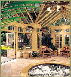 Interior of poolhouse Georgian conservatory by Tanglewood Conservatories, via Flickr