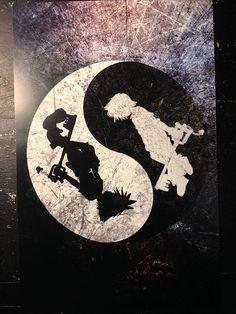 Parodient de Kingdom Hearts affiche Sora Roxas Yin Yang