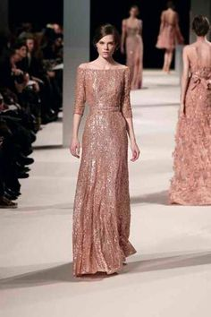 Elie Saab Sp/Su 2011 Long sleeved gown ~ beautiful back on the right