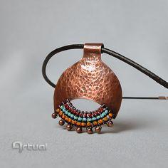 Copper pendant wire jewelry girlfriend gift copper by Artual