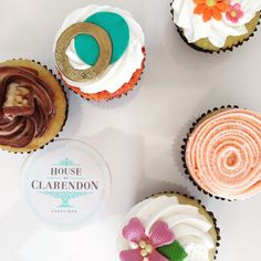 Cupcakes with different designs.