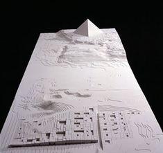 Maquetas: Grande Museu Egípcio. Cairo, Egipto Aires Mateus