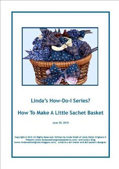 #FreeSewingPattern - How to Make a Little Sachet Basket - click the image to get the free instant download!