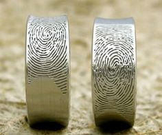 Looking for a ring that's truly unique and one-of-a-kind for you and your partner? Then put your fingerprints on them! It makes sense, considering no one in this world