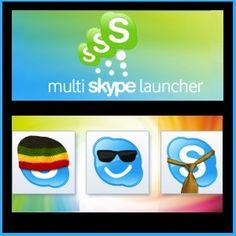 multi skype launcher, multiple accounts, skype, skype login, skype settings, software