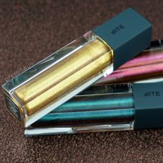 Bite Beauty Prismatic Pearl Creme Lip Glosses in Gold, Rose and Peacock.