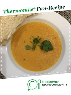 Recipe Sweet Potato, Carrot, Coconut and Lime Soup by learn to make this recipe easily in your kitchen machine and discover other Thermomix recipes in Soups. Coconut Soup, Recipe Community, Food N, Sweet Potato, Soup Recipes, Carrots, Soups, Curry, Lime