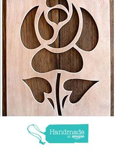 """Beautiful Large Sized Hand Crafted MDF 'Decorative Rose Design' Drawing Template / Stencil (Style 1) - Size: 12"""" x 8.5"""" Overall (30cm x 21cm) from The Andromeda Print Emporium https://www.amazon.co.uk/dp/B01KC53CDE/ref=hnd_sw_r_pi_dp_lwURxbKS8XKNH #handmadeatamazon"""